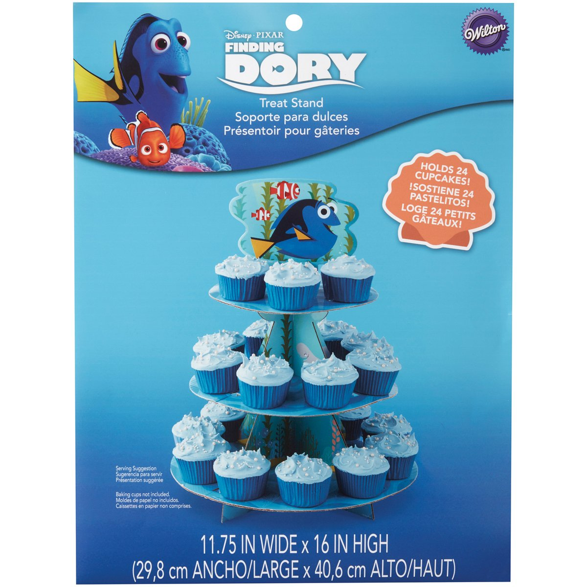 Amazon.com: Wilton Finding Dory Treat Stand, Multicolor: Kitchen & Dining
