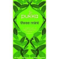 Pukka Three Mint Herbal Tea Bags, 20 Count, 1.6 Grams