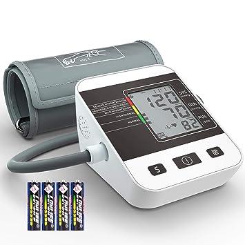 Tensiómetro de Brazo Digital, Annsky Monitor Eléctrico de Presión Arterial Medición Automática de la Presión Arterial y pulso de frecuencia cardíaca ...
