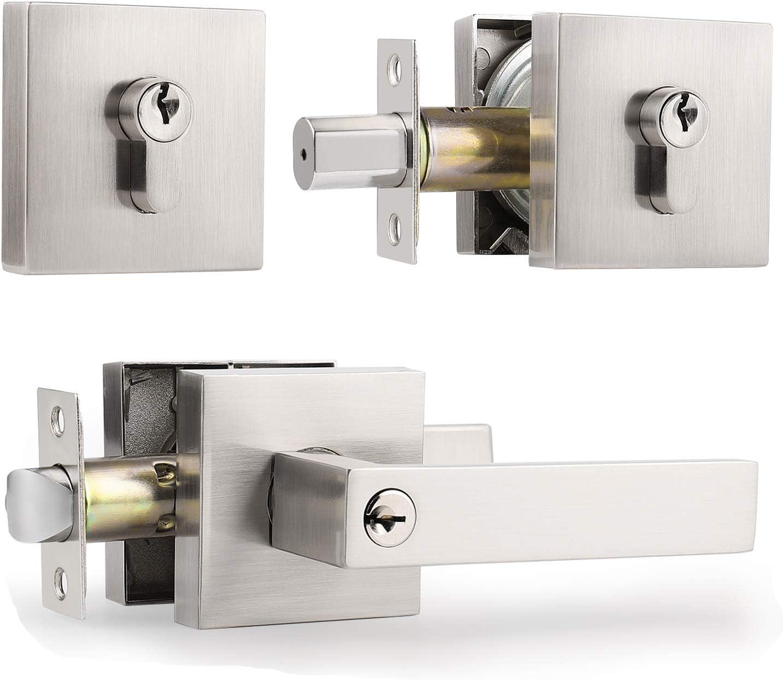 Metal Deadbolt Single Cylinder Deadbolt Dead Bolt Door Lock for 35-46mm Doors
