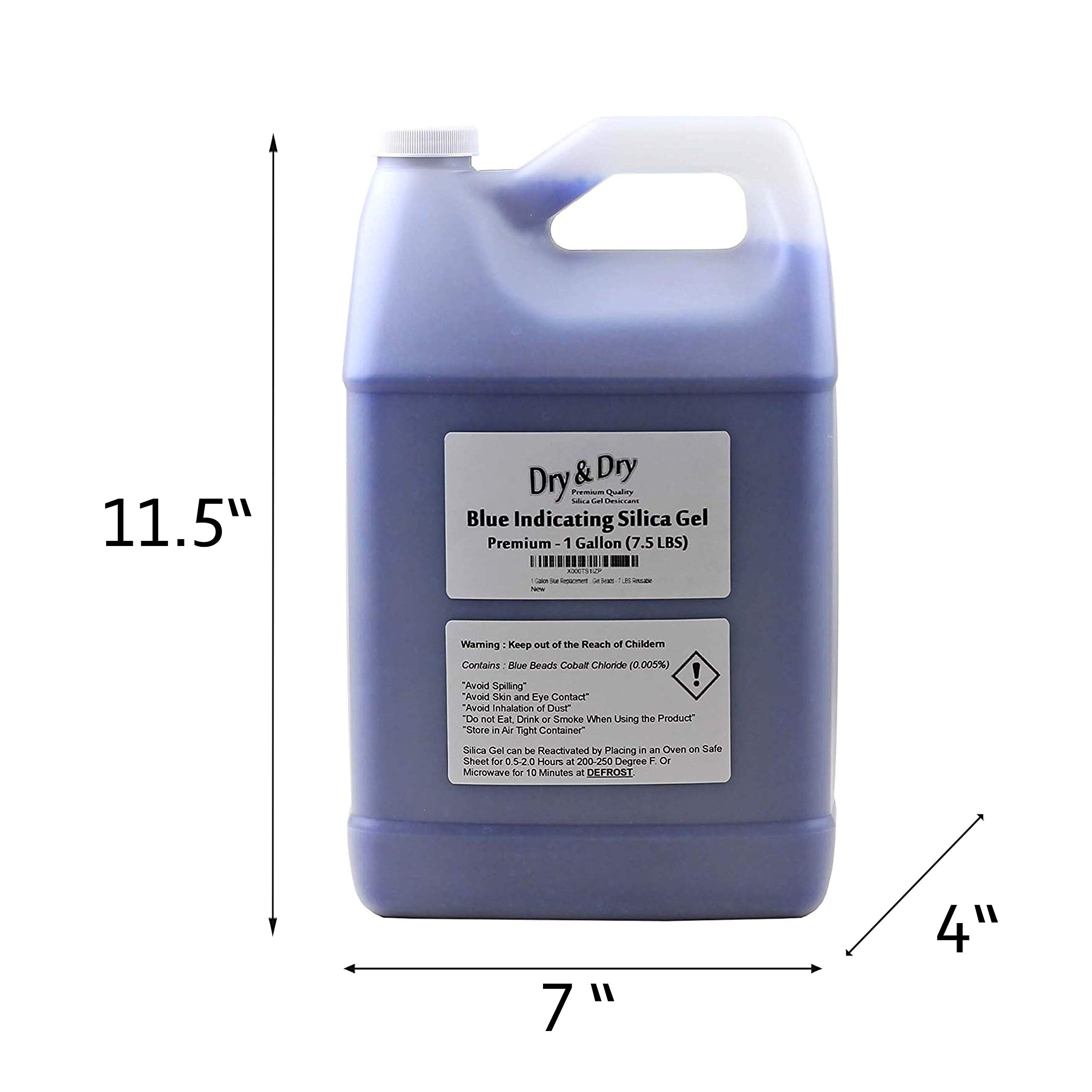 Dry & Dry 2 Gallon Blue Premium Desiccant Indicating Silica Gel Beads(Industry Standard 2-4 mm) - 15 LBS Reusable by Dry & Dry (Image #6)