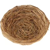 Flameer Handwoven Straw Bird Nest Cage Birdhouse/House for Parrot Pigeon Dove etc.Sleeping Or Breeding