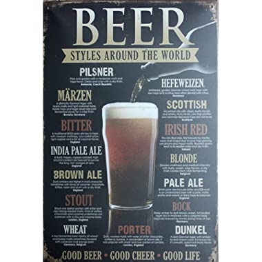 LA CHANSON Beer Sign RetroTin Sign Vintage Metal Sign Bar Pub Decor 8x12 Inches