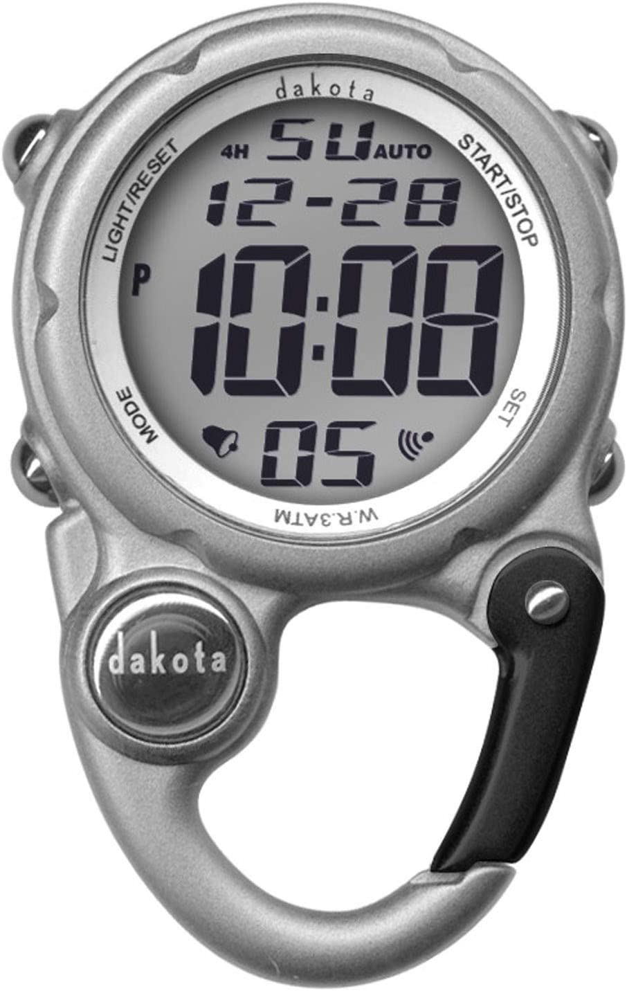 Dakota Digital Clip Mini Watch - Water Resistant - Silver
