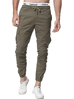 ZOEREA Homme Pantalon Cargo Sport Jogging Pantalons Multi