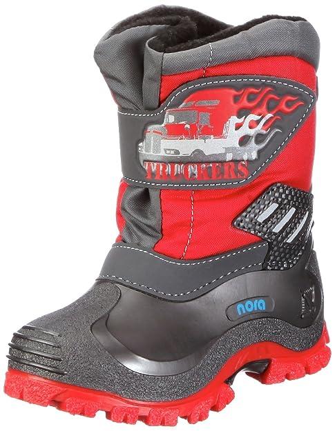 Nora Trucker 781062 - Botas de caucho para niños, color rojo, talla 23