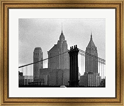 Amazon.com: Great Art Now Bridges of NYC VI by Jeff Pica Framed Art ...