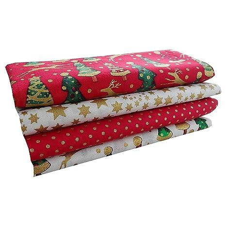 Paquete de tela navideña de algodón para manualidades Christmas Cotton, diseñ
