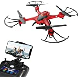 Holy Stone Drone with Camera, FPV Drone with 720P HD WIFI Live Video Camera, RC Quadcopter Drone for Beginners Kids, Headless Mode, Altitude Hold, APP Control, One Key Return, RTF – Red