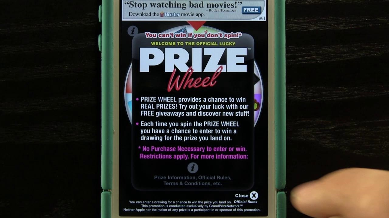Prize Wheel iPhone App Review
