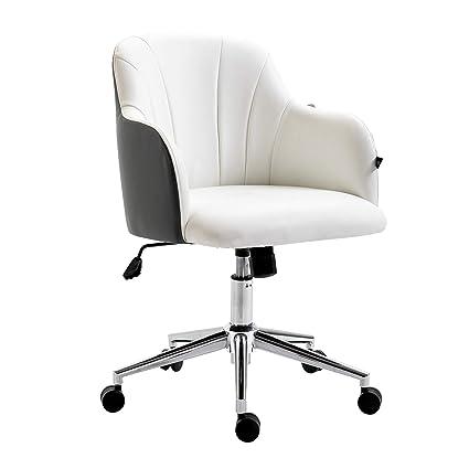 Magnificent Cherry Tree Furniture White Dark Grey Pu Leather Desk Evergreenethics Interior Chair Design Evergreenethicsorg
