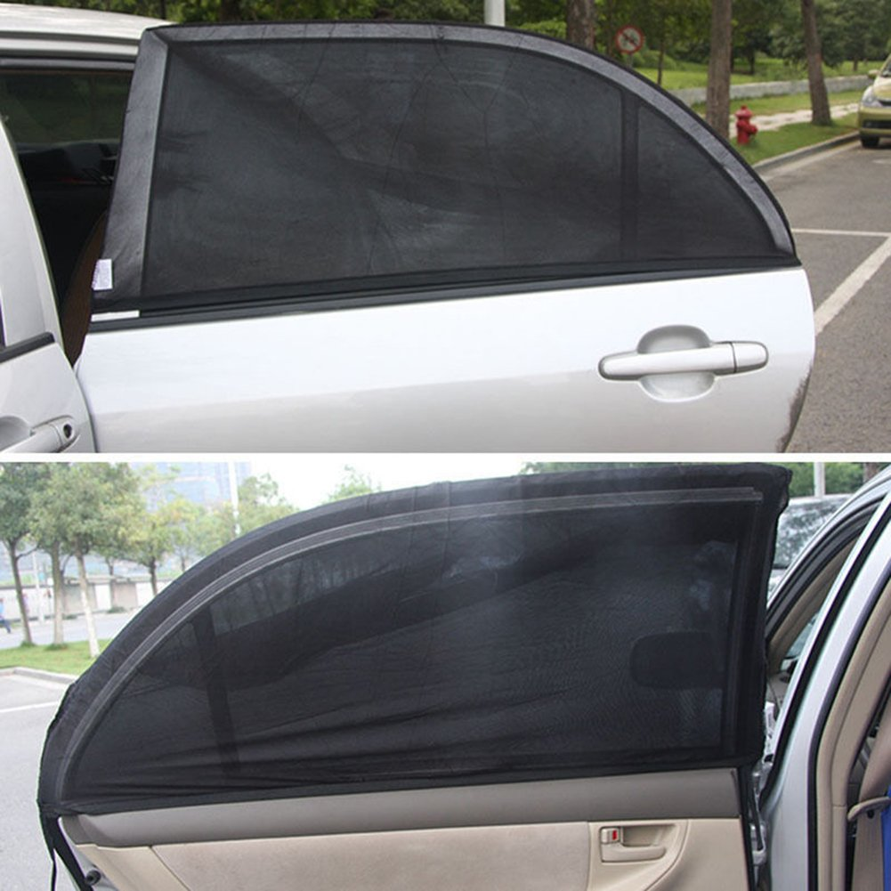 Auto Car Back Window Sunshade Car Side Window Sun Shade Cover Double Layer Visor Mesh Shield UV Block Protect Fit for Most of Cars,Package of 2 PCs 50x110cm