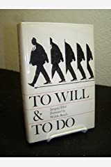 To Will and to Do Hardcover
