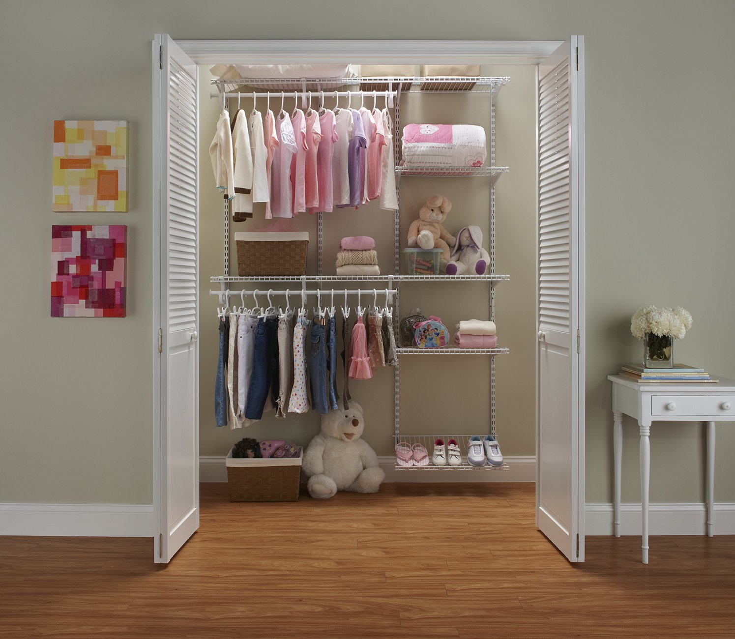 floor d white h in system p x kit style shelves w walnut narrow closetmaid mount systems closet maid melamine wood