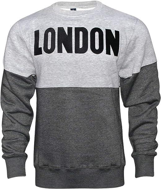16sixty Mens London Print Hoodie Fleece Pullover Sweater Jumper Sweatshirt Top