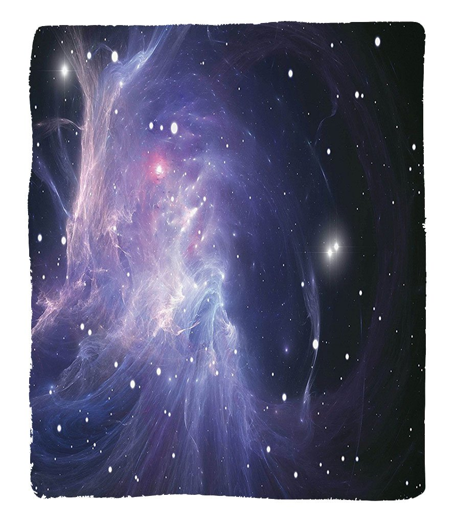Chaoran 1 Fleece Blanket on Amazon Super Silky Soft All Season Super Plush Space Decorations Collectionpace Nebula with Bright Lights in the Galaxy Complex Energy Movements Cosmos Print Fabric Extra N by chaoran