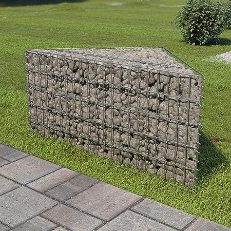 Jardinera de gaviones de Acero galvanizado 75x75x50 cmCasa y ...