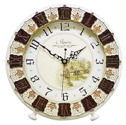 Relddd Relojes de Chimenea Relojes de Chimenea,Mudo Reloj de Abuelo Antiguos Living Moderno albergue