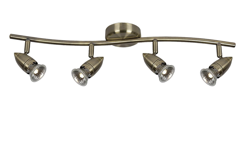 Spot Plafond Bronze 03 /Ø 10 cm GU10-4x50W 2700K Lucide CARO