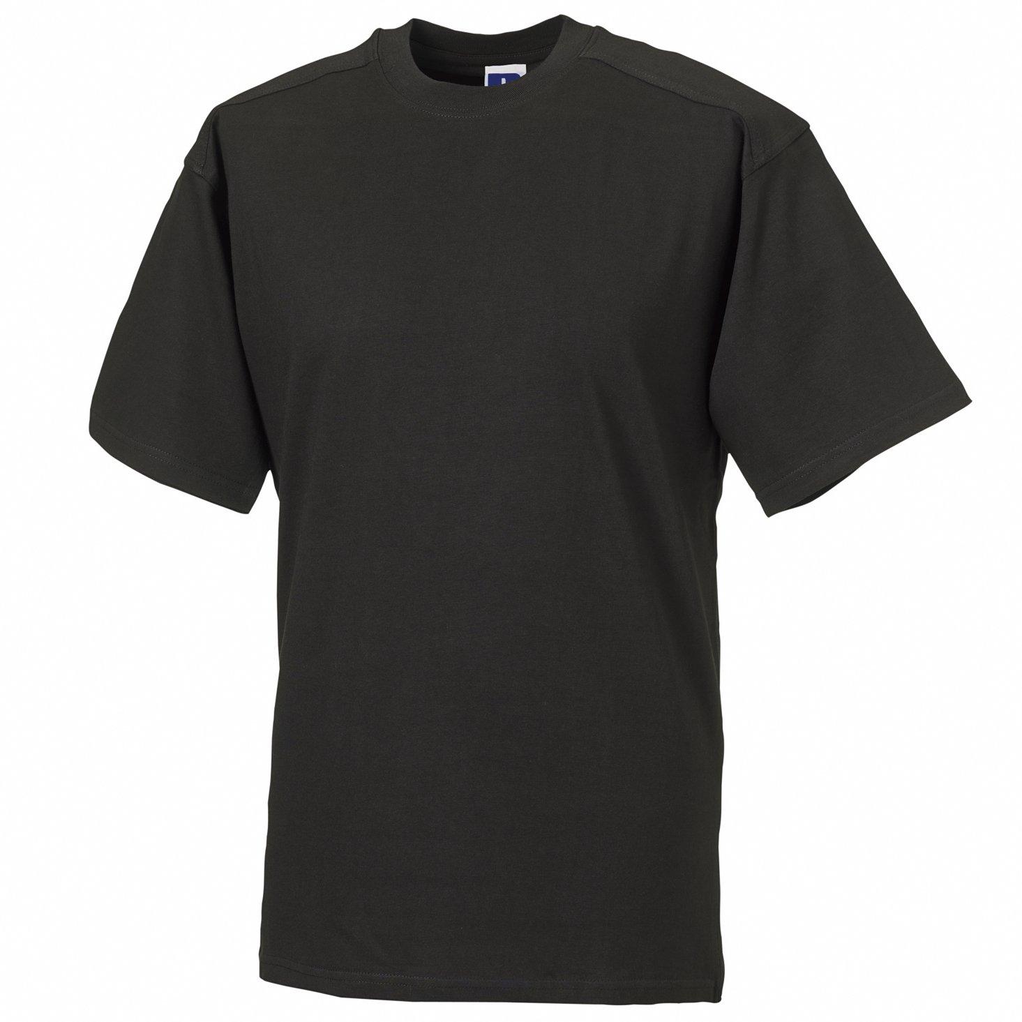 "Russell Europe Mens Workwear Short Sleeve Cotton T-Shirt (XL (42-44"" Chest)) (Black)"