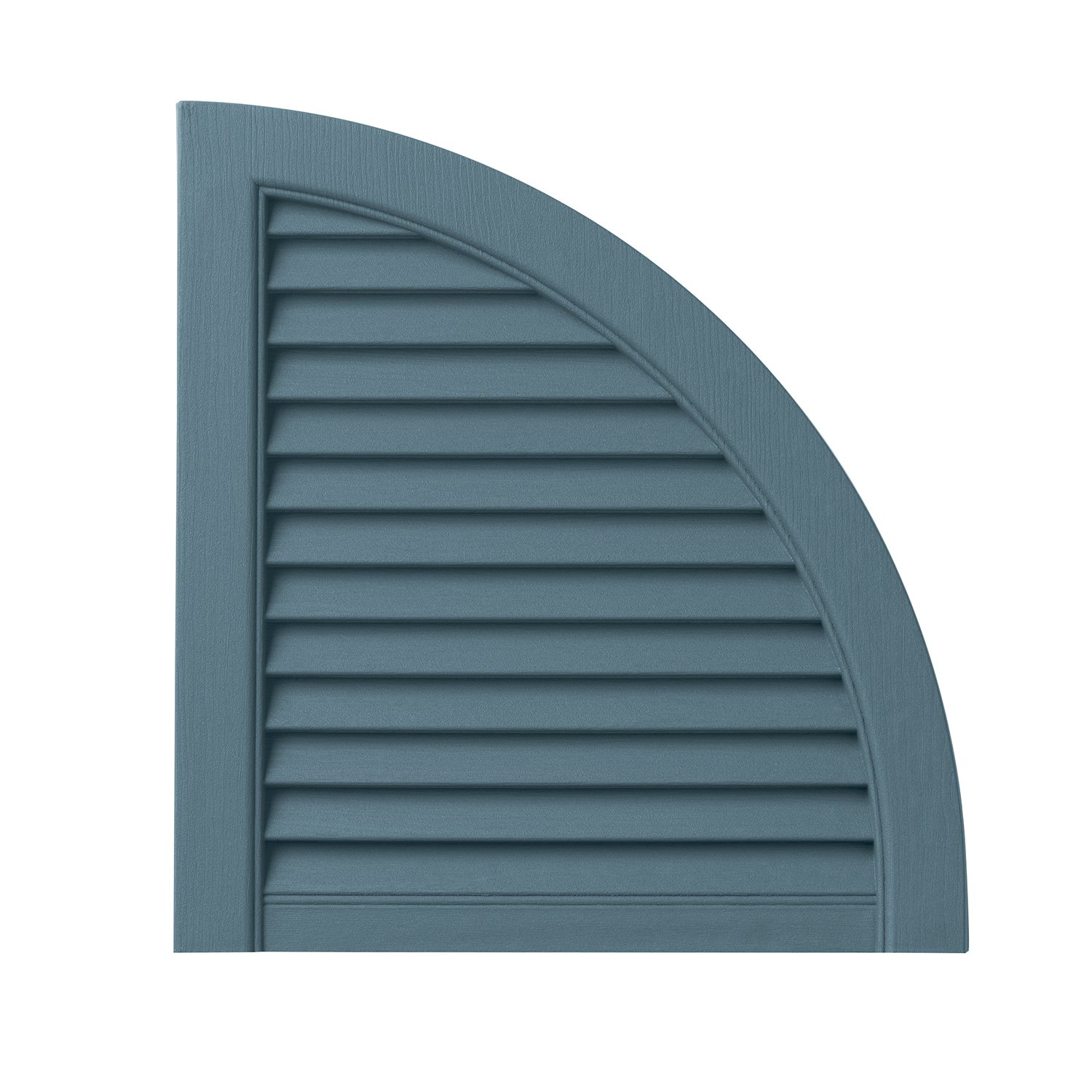 Ply Gem Shutters and Accents ARCH15LV BLU Open Louvered Arch Top, 15'', Coastal Blue