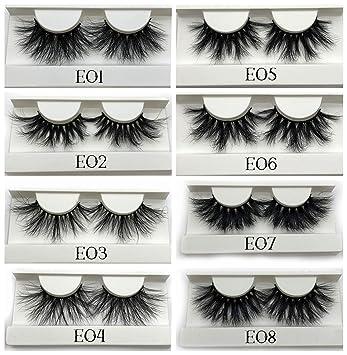 76998293b25 Amazon.com : 25mm False Eyelashes Wholesale Thick Strip 25mm 3D Mink Lashes  Custom Packaging Label Makeup Dramatic Long Mink Lashes, C, 0.15mm, J 09,  ...
