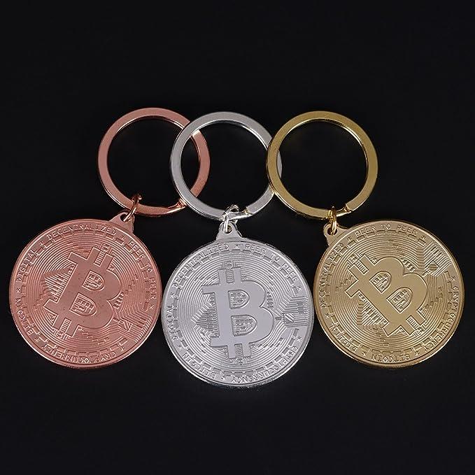 Amazon.com: aowa 1 pcs BTC BITCOIN física medalla de oro ...