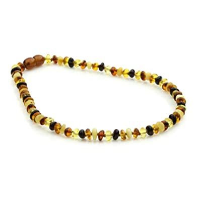 Amber Bead Necklace, World's Products, sizes from 30cm, 32cm, 34cm, colour HONEY