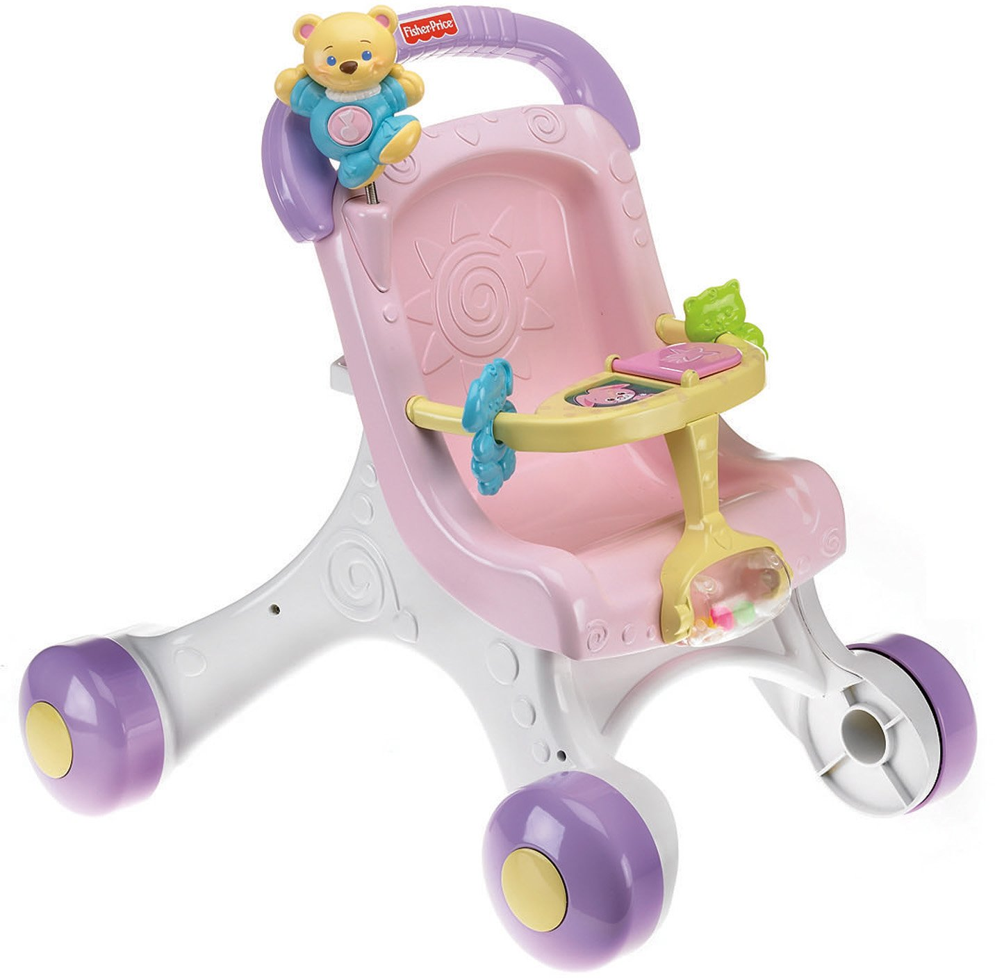 Amazon.com: Fisher-Price Brilliant Basics Stroll-Along Walker ...