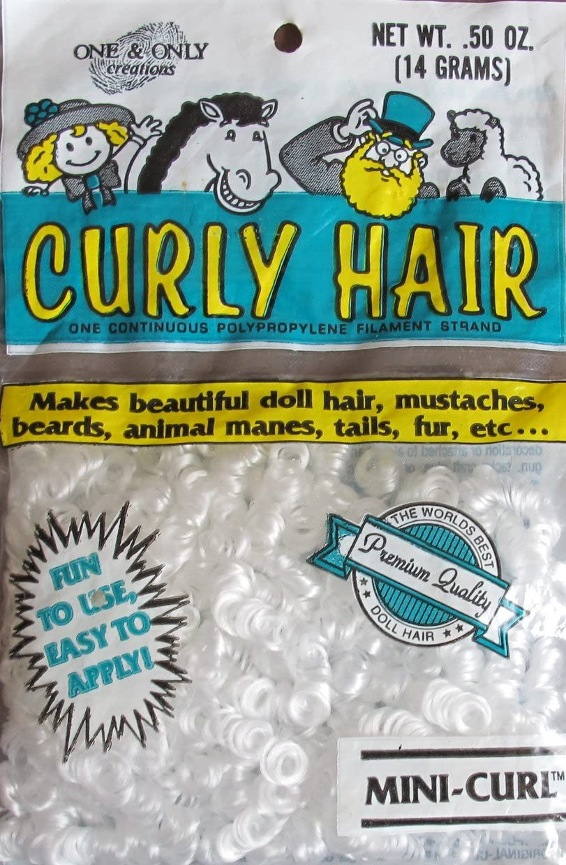 Mini Curl Doll Curly Hair New Old Stock Winter White