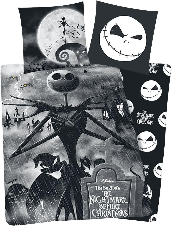 The Nightmare Before Christmas Pesadilla Antes De Navidad Jack Ropa de Cama Negro: Amazon.es: Hogar