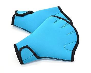 Weiterer Wassersport Aqua Sphere gewebter Schwimmen Handschuhe blau Größe S