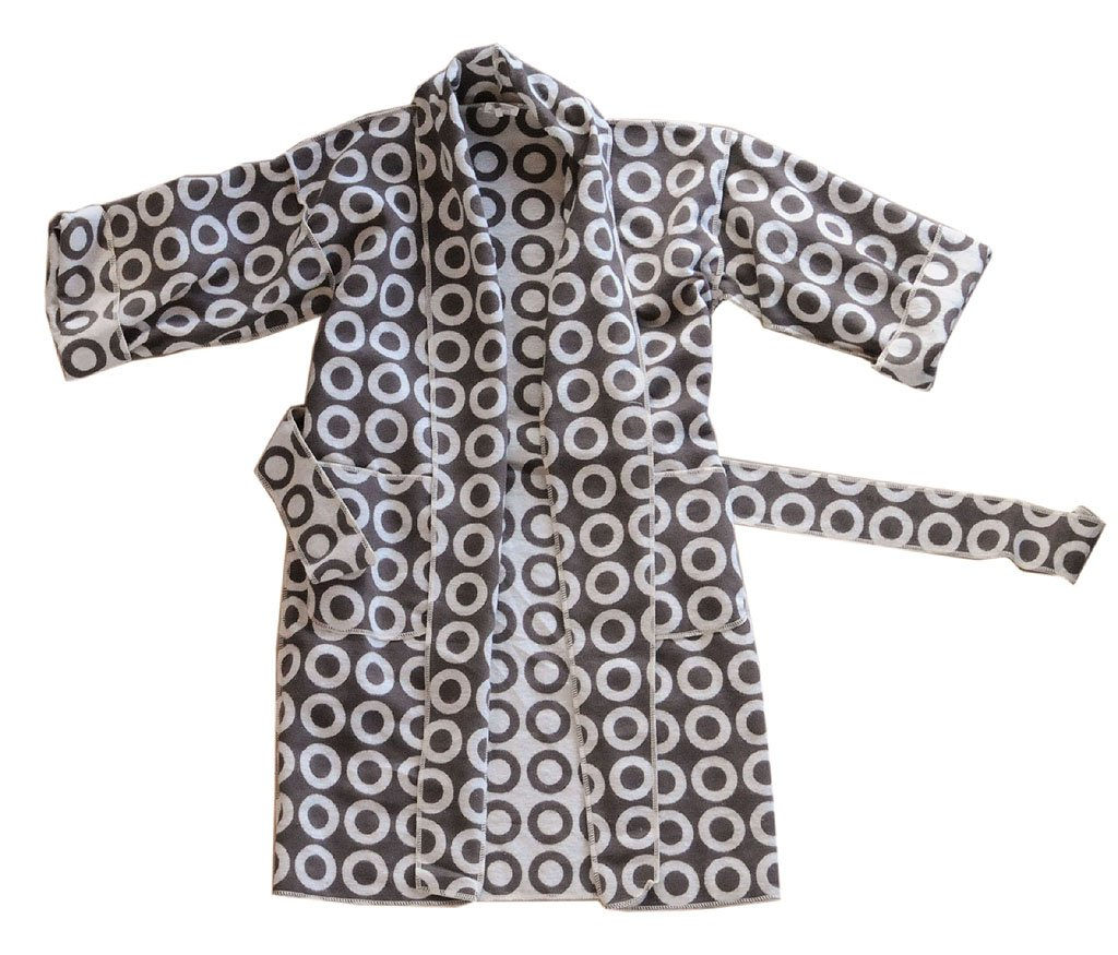 David Fussenegger Baumwollfleece Kimono, L/XL, Farbe: fango, 951765