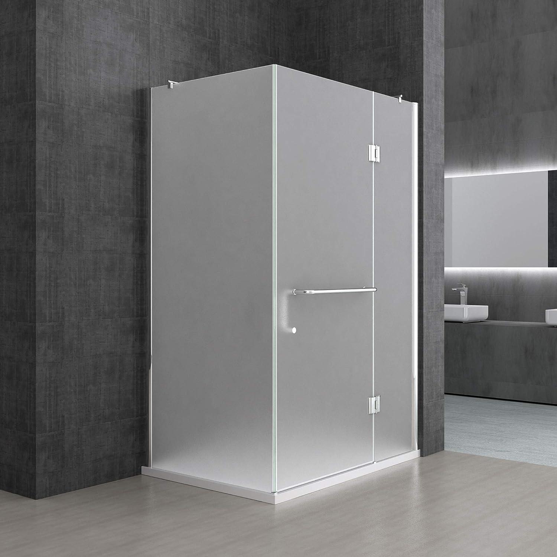 Sogood Cabina de ducha esquinera Rav04S 70x90x190cm, mampara de vidrio de seguridad en satén | Con plato de ducha plano 4cm en blanco | Revestimiento - Nano: Amazon.es: Bricolaje y herramientas