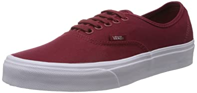 Image Unavailable. Image not available for. Colour  Vans Unisex Maroon  Authentic Casual Shoes 49332db3588