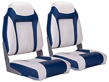 Captain Boat Seats >> North Captain S1 Deluxe High Back Folding Boat Seat 2 Seats