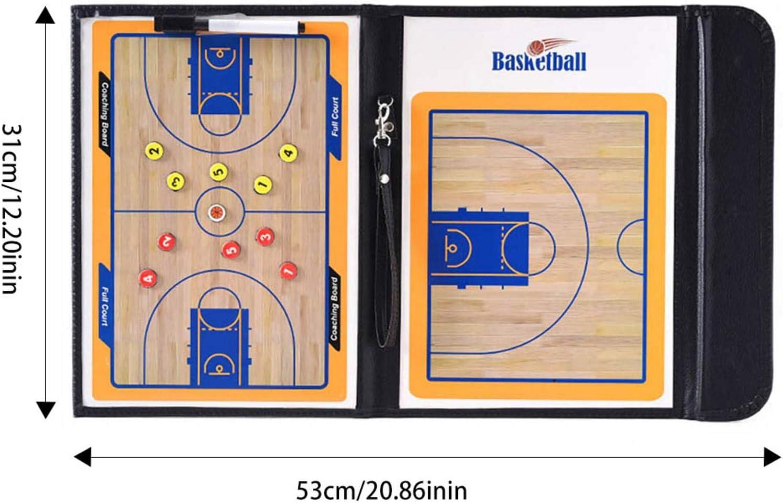 Faltbares Basketball Trainer-Brett-Platten-Buch-Set Mit Stift-Trockenl/ösch-Lehrclip-Coaching-Zwischenablage,53 cm X31 cm