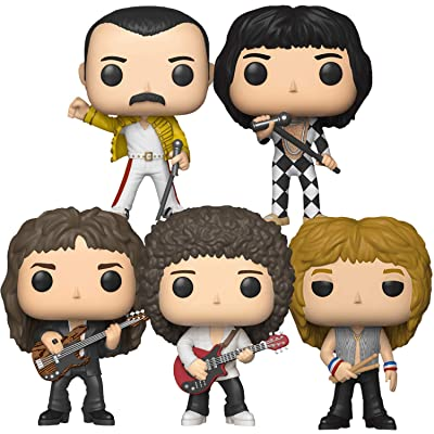 "Funko Pop! Rocks: Queen Collectible Vinyl Figures, 3.75"" (Set of 5): Toys & Games"