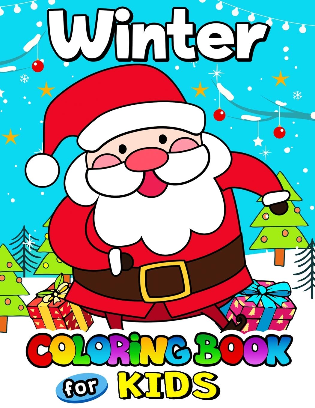 Christmas & Winter Coloring Pages for Kids to Color | 1360x1051