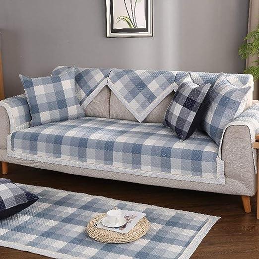 ZHENYUE Cubierta de sofá algodón, Acolchado Antideslizante Funda ...
