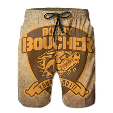 bad9dfb086 You Can Do It! - Bobby Boucher Beach Board Shorts With Pockets And Lining |  Amazon.com