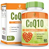 CoQ10 200mg - Coenzyme Q10 Double Dose pour Hommes et Femmes - Ubiquinone - 60 Capsules (30 Jours d'Approvisionnement) de Earths Design