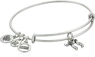 product image for Alex and Ani Womens Chai EWB Bangle Bracelet, Rafaelian Silver, Expandable