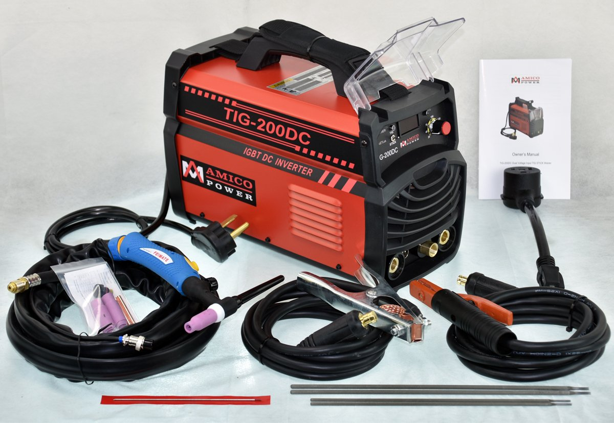 4. Amico 200DC Amp TIG Torch/Arc/Stick DC Inverter Welder Dual Voltage IGBT Welding