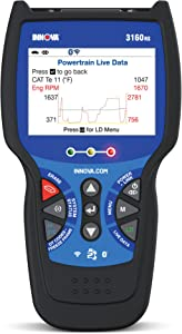 INNOVA 3160RS OBD2 Scanner/Car Code Reader with Live Data, ABS, SRS, Service Light Reset, EPB, and Network Scan