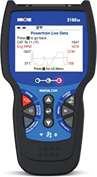 INNOVA 3160 Diagnostic Scan Tool with ABS//SRS and Live Data for OBD2 Vehicles