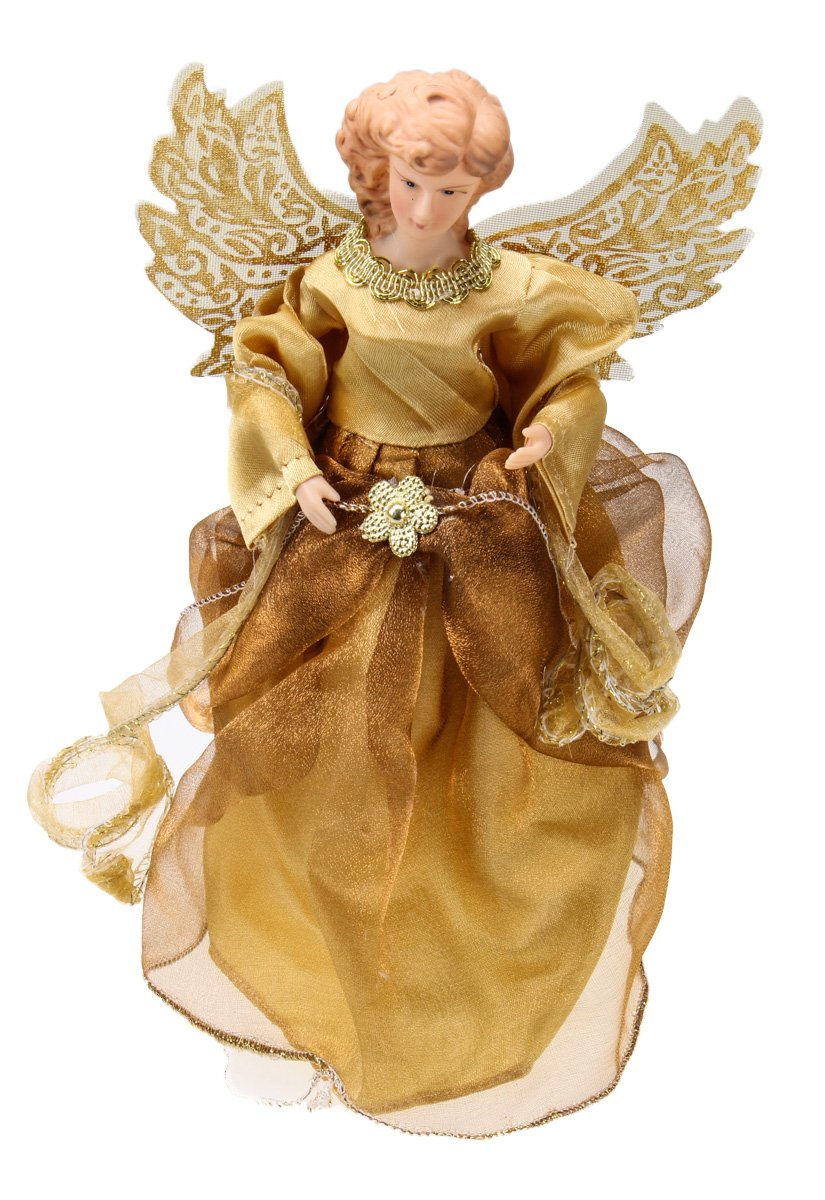 Christmas Holiday Gold Fairy Princess Tree Topper Decoration