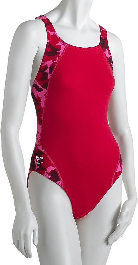Speedo Womens Endurance Kaleidoscope Splice Recordbreaker One-Piece Swimsuit