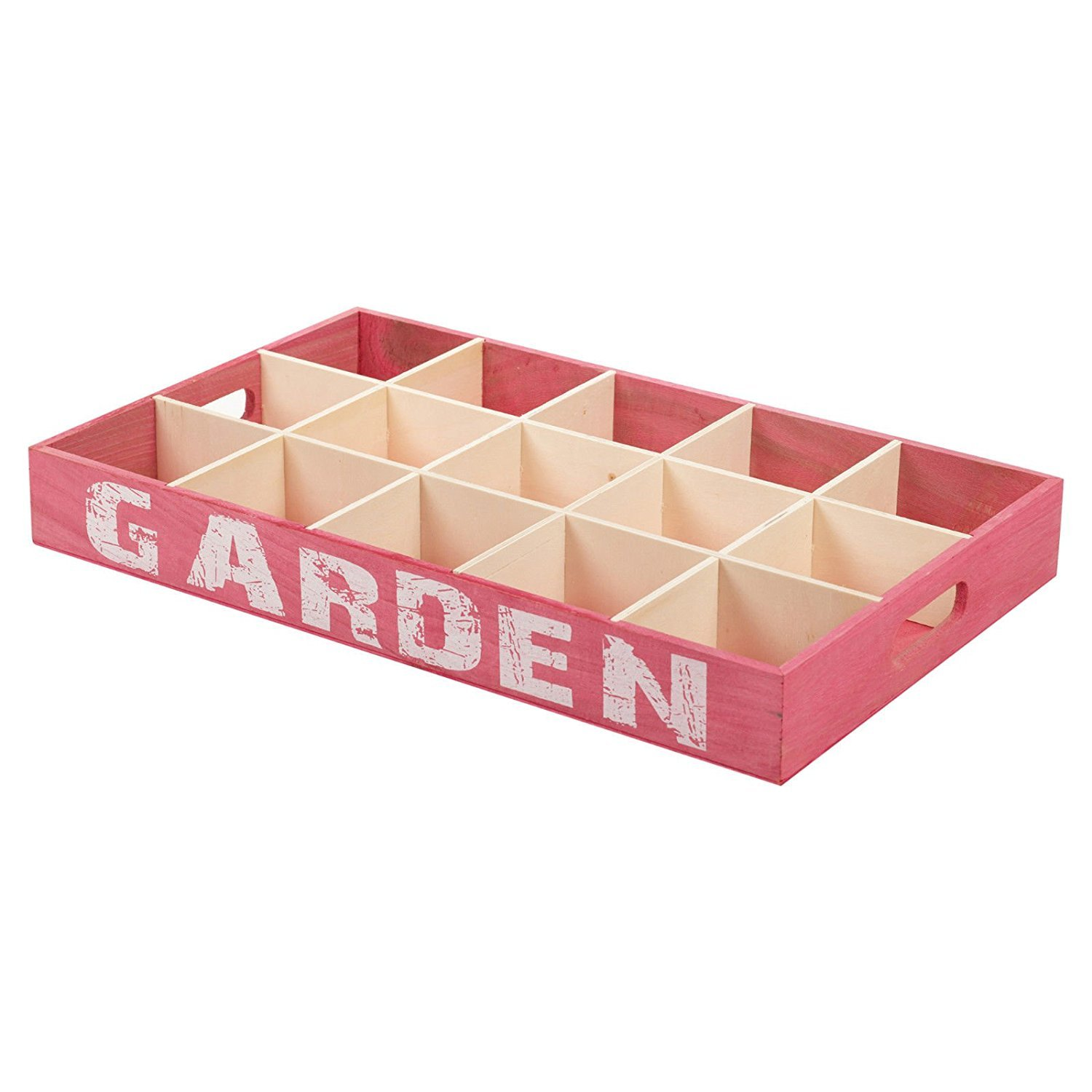 12 Compartment Wooden Germination Plant Pot Tray Flowers Herbs Plants Greenhouse Storage EGT UKASNHKTN7761