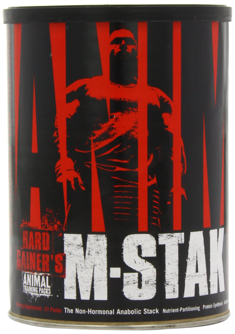 Universal Nutrition Animal M-Stak Non-Hormonal All Natural Anabolic Gainer Supplement, 21 Count